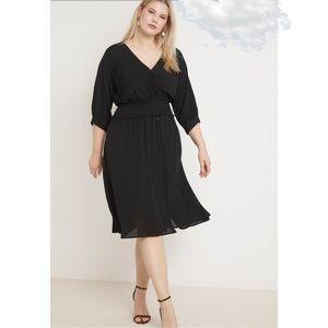 🆕 Eloquii Black Midi Dress Sz 20